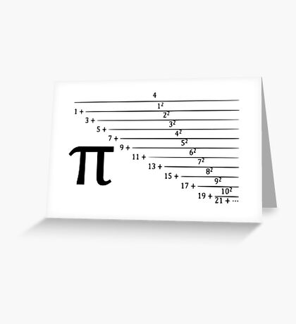 Pi, continuous fraction version Greeting Card