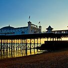 Brighton Pier Sunset - England by Bryan Freeman