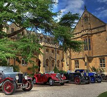 Pre-war cars at Mansfield College by Derek Green