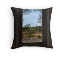 Ruin,Old Cork Station, Outback Queensland Throw Pillow