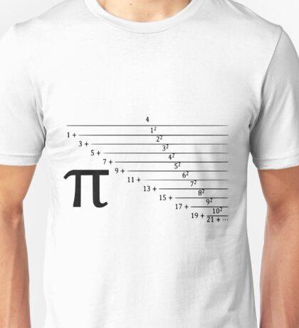 Pi, continuous fraction version Unisex T-Shirt
