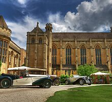 Vintage Cars at Mansfield College by Derek Green