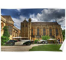 Vintage Cars at Mansfield College Poster