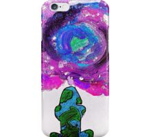 Earth and universe galaxy girl iPhone Case/Skin