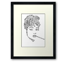 Audrey Hepburn made from her own Quotes Framed Print