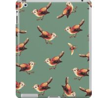 Chestnut Birds and Bee on Sage iPad Case/Skin