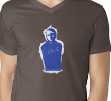 Blue Man Mens V-Neck T-Shirt