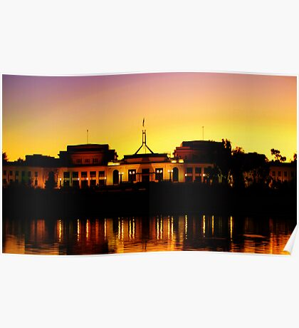 Dusk over Parliament Poster