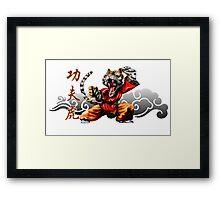 kung fu tiger Framed Print