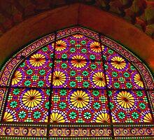 Window of Flowers - Arg of Karim Khan - Shiraz - Iran by Bryan Freeman