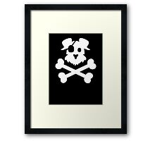 Pirate Pup - White Framed Print