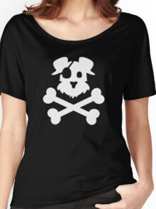 Pirate Pup - White Women's Relaxed Fit T-Shirt