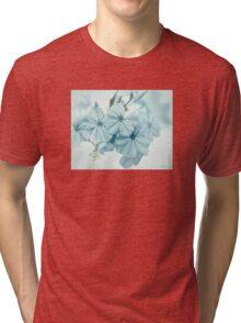 Plumbago is the language that my garden speaks in summer... Tri-blend T-Shirt