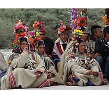 Ladakhi tribe ready to perform Photographic Print