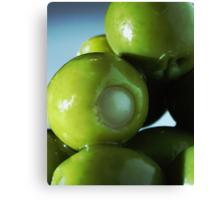 Stuffed Green Olives Canvas Print
