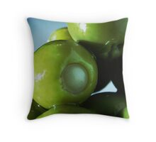 Stuffed Green Olives Throw Pillow
