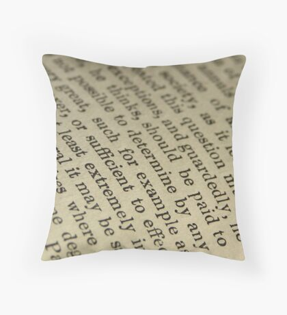 Printed Page Throw Pillow