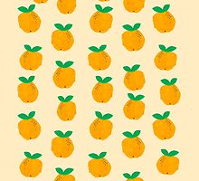 Oranges clementines fruit pattern watercolor painting pattern fresh tropical summer citrus girl by lule