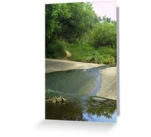 spillway reflections Greeting Card