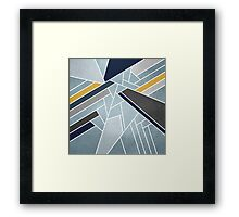 Soft silver/blue/navy/gold Framed Print
