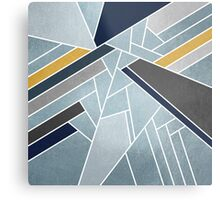 Soft silver/blue/navy/gold Metal Print