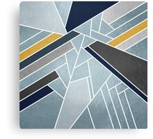 Soft silver/blue/navy/gold Canvas Print