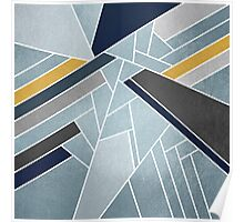 Soft silver/blue/navy/gold Poster