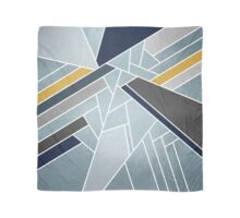 Soft silver/blue/navy/gold Scarf
