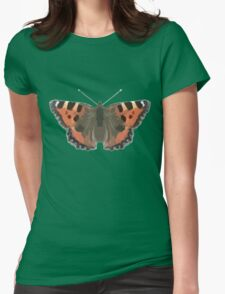 Cute Butterfly Print Design Womens Fitted T-Shirt
