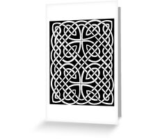 106 - PICTISH KNOTWORK PANEL - DAVE EDWARDS - INK - 1985 Greeting Card