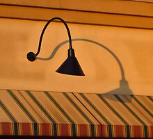 Crooked Lamp with Shadow by Jay Gross