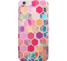 Rainbow Honeycomb - colorful hexagon pattern iPhone Case/Skin