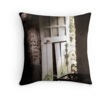 Inside Outside - Doorway of Yesterday! Throw Pillow