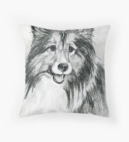 "Shetland Sheepdog ""Sheltie"" Throw Pillow"
