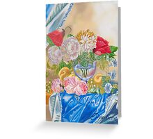 Still life with Fruit and Flowers Greeting Card