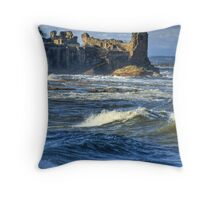 Coastal Ruins Throw Pillow