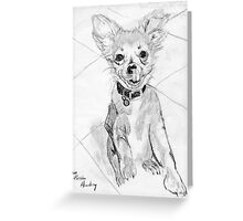 Papillon Pup Greeting Card