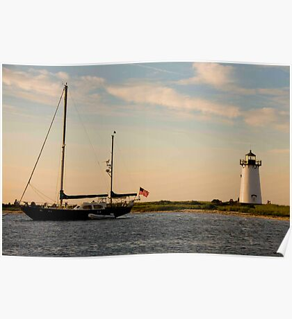 Day's End Edgartown Light Poster
