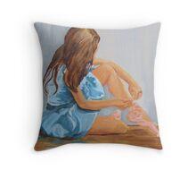 a resting ballet dancer cinderella  Throw Pillow