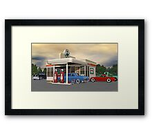 1950's Gas Station Framed Print