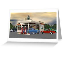 1950's Gas Station Greeting Card