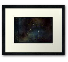 Gemini zodiac Framed Print
