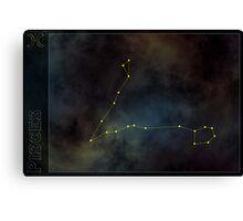 Pisces zodiac Canvas Print