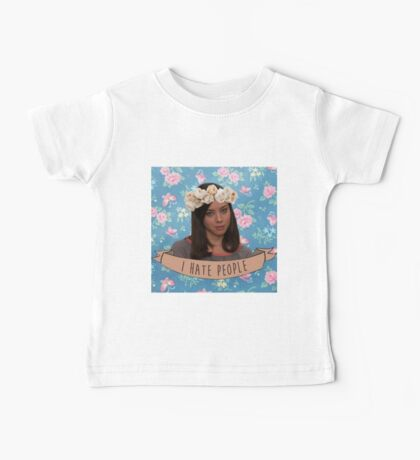 I Hate People - April Ludgate Baby Tee