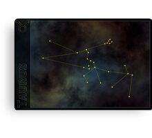 Taurus zodiac Canvas Print