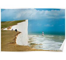 Beachy Head Clifftop and Lighthouse Poster