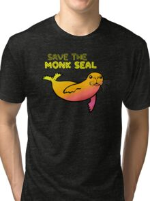 Save the Monk Seal Tri-blend T-Shirt