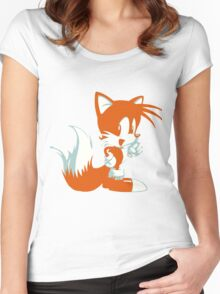 Minimalist Tails 2 Women's Fitted Scoop T-Shirt