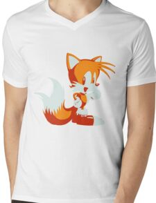 Minimalist Tails Mens V-Neck T-Shirt