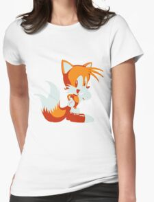 Minimalist Tails Womens Fitted T-Shirt